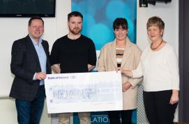 Presenting cheque to Pieta House